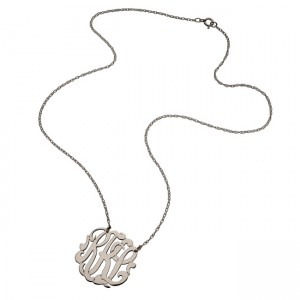 moon and lola script monogram necklace