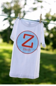 personalized boys initial tee