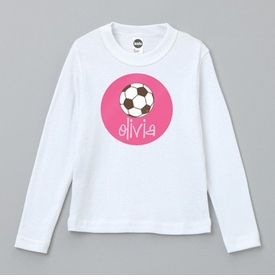 soccer long sleeve tee (toddler) - personalized