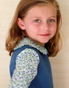 sophie blouse - blue mums floral