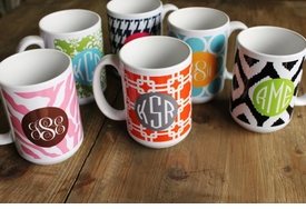 Clairebella personalized mugs